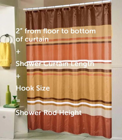 proper size for a shower curtain