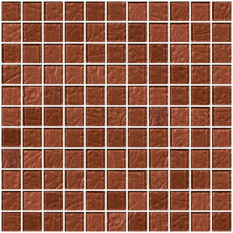 1 inch copper brown metallic glass tile super sale