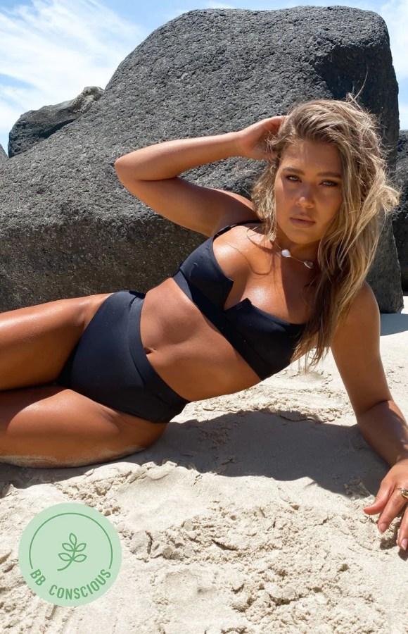 9.0 Swim Alabama Bikini Top Black