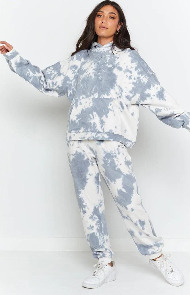 Aspen Lounge Pants Blue Tie Dye 4