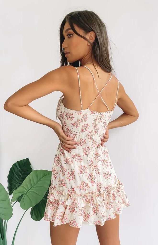 Dreamy Mini Dress Beige 8