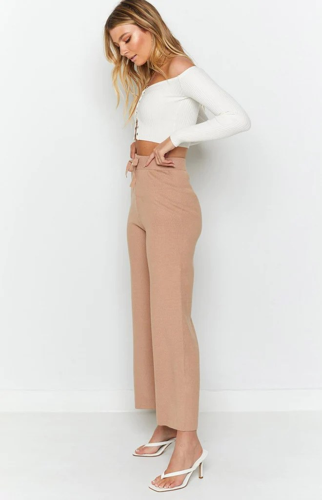 Diaz Knitted Pants Mocha 7