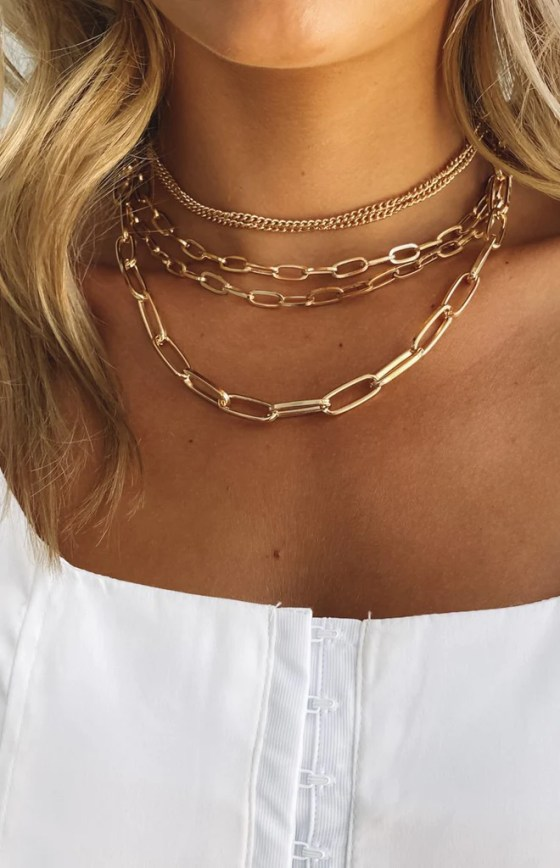 Eclat Polly Jean Layered Necklace Gold 17