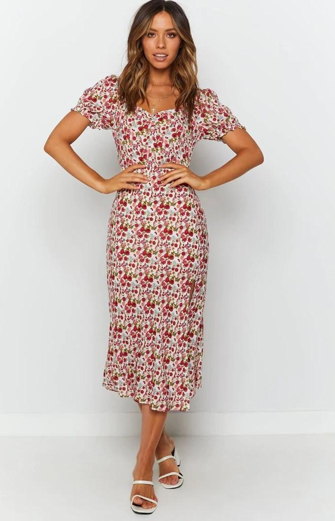 Gigi Summer Midi Dress Floral 3