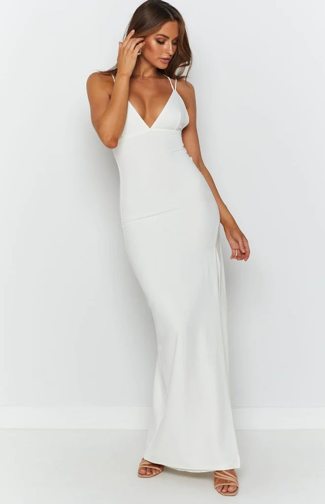 Giovanni Formal Maxi Dress White 5