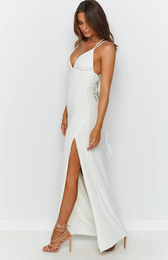 Giovanni Formal Maxi Dress White 6