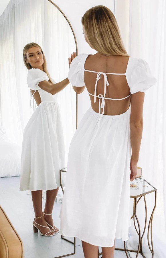 Gracious Midi Dress White