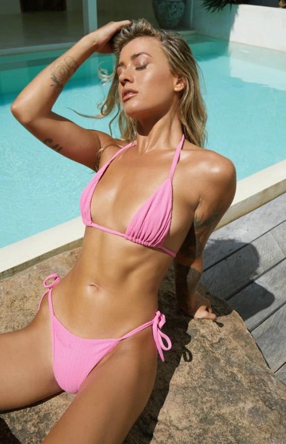 9.0 Swim Mandarine Bikini Top Pink Rib