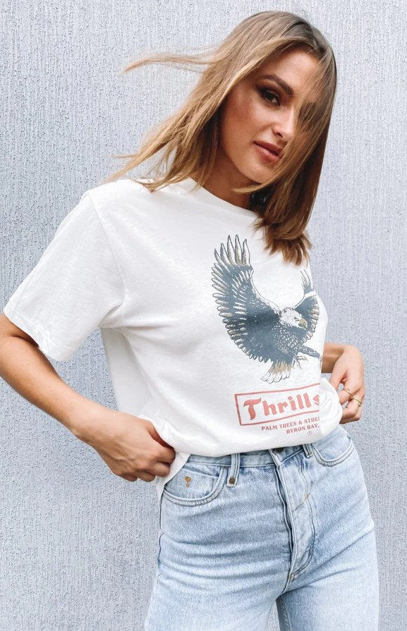 Thrills Traction Merch Tee Dirty White