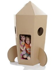 Paperpod Cardboard Rocket Play House