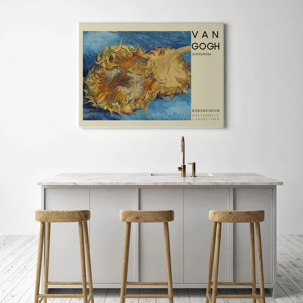 https www kuriosis com products sunflowers art poster by van gogh