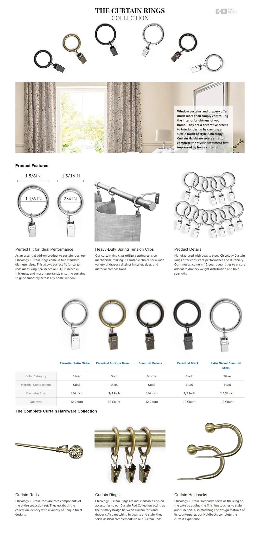 clip rings hardware essential black