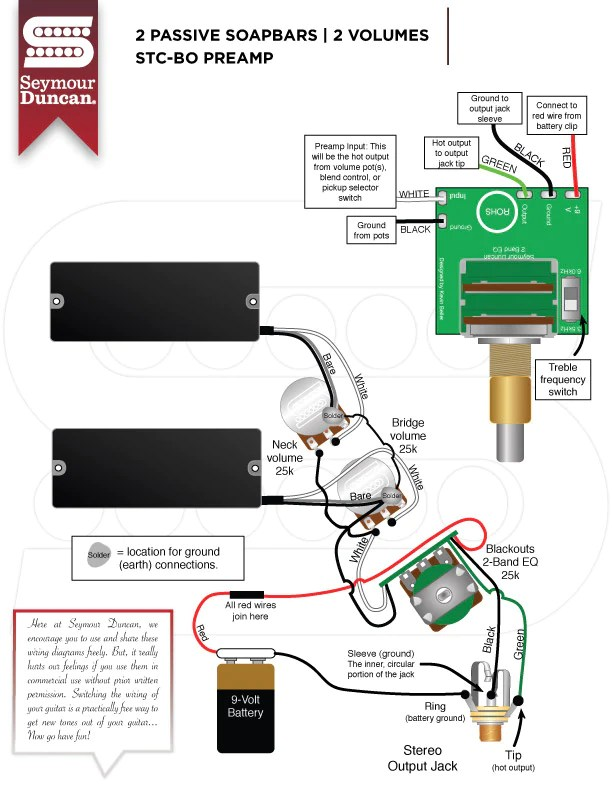 pickup wiring diagrams – fat bass tone