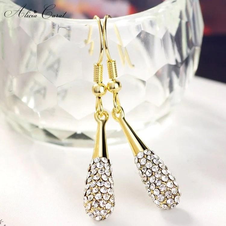 parure bijoux plaque or pas cher