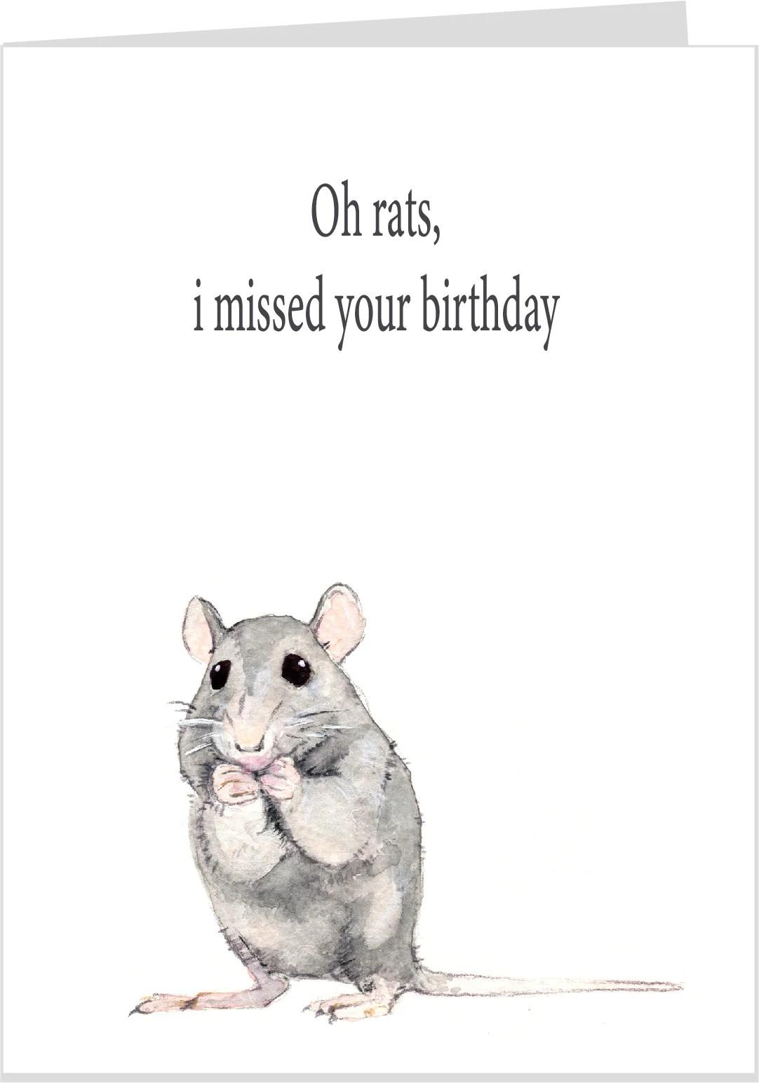 Oh Rats I Forgot Your Birthday Card Sojourn Australia