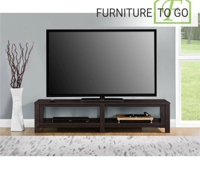 Tv Stands 40 00 Espresso Low Profile Tv Stand For Tvs Uo To 65in