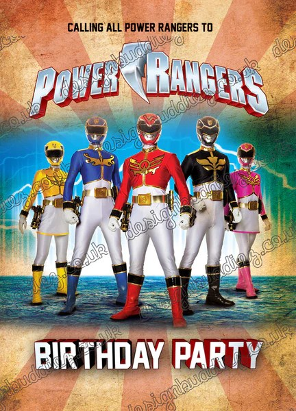 Power Rangers Kid S Birthday Party Invitations Party Invitations For P Printbuddies Co Uk