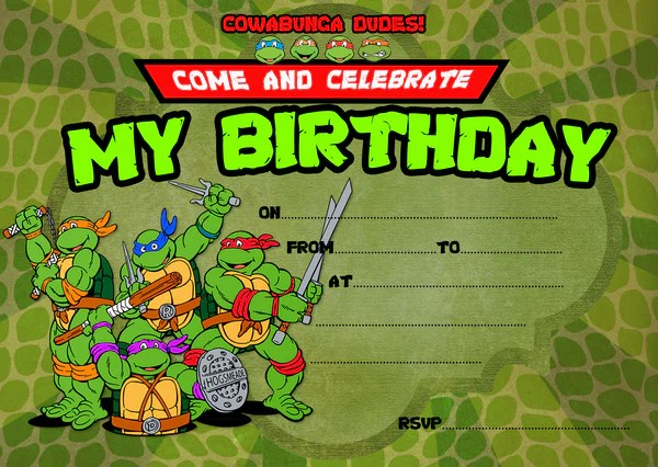 kids ninja turtle birthday party invitations ninja turtle party envelopes