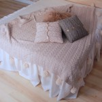Romantic Pure Linen Bed Skirt With Ruffles Full Queen King Sizes 3hlinen Inc