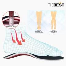 palmilha pés planos corrige pisada e as pernas joelho valgo