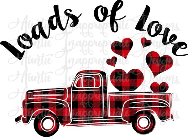 Download Loads of Love Valentine Truck Digital SVG File - Auntie ...