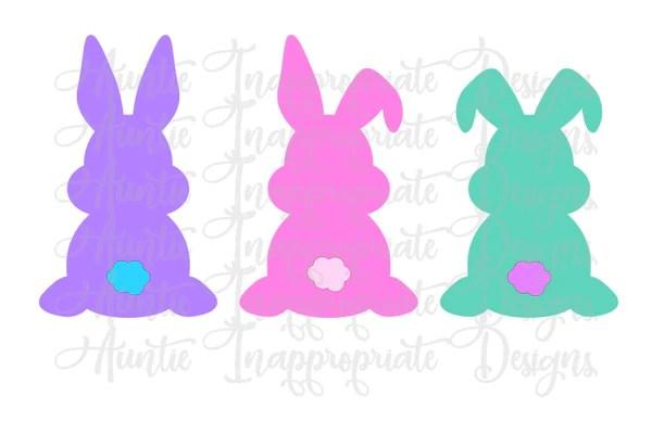 Download Three Bunnies Digital SVG File - Auntie Inappropriate Designs