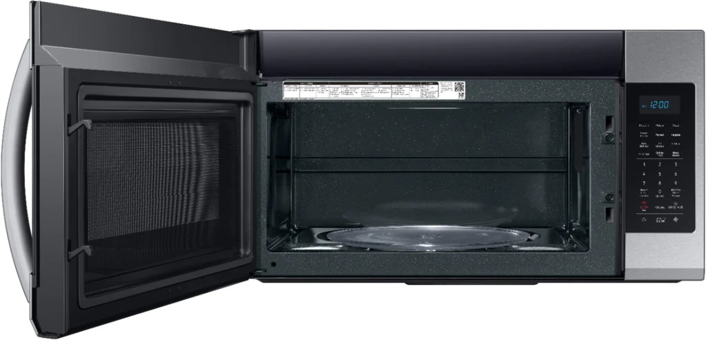 samsung me19r7041fs 30 inch over the range microwave with 1 000w cook power 10 power levels 4 speed 400 cfm vent fan sensor cooking simple clean