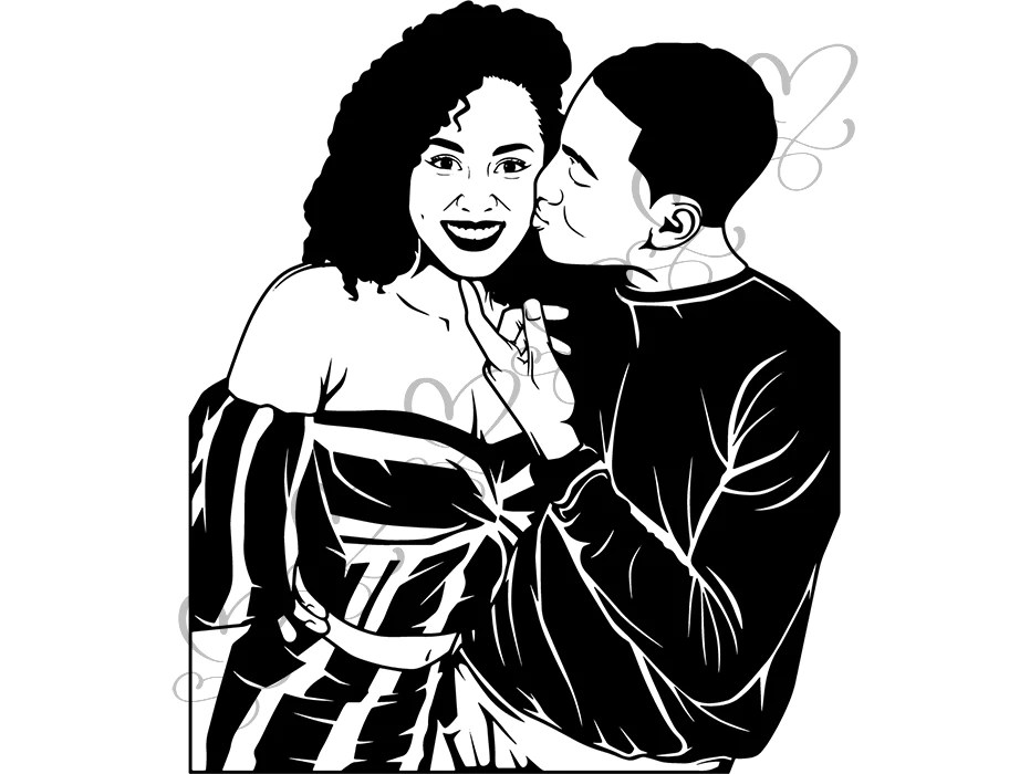 Download Black Cute Couple SVG Relationship African Ethnicity ...