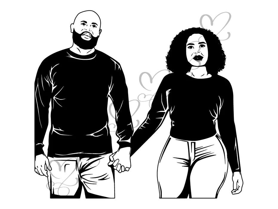 Download Black Couple SVG Relationship African Ethnicity Kissing ...