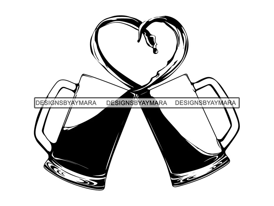Download Love Beer Toast Cheers Celebration Anniversary Heart ...