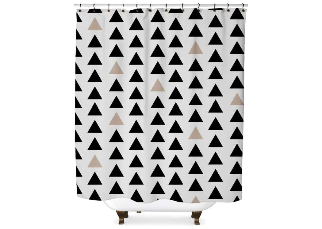 black and tan triangle shower curtain standard 70x70
