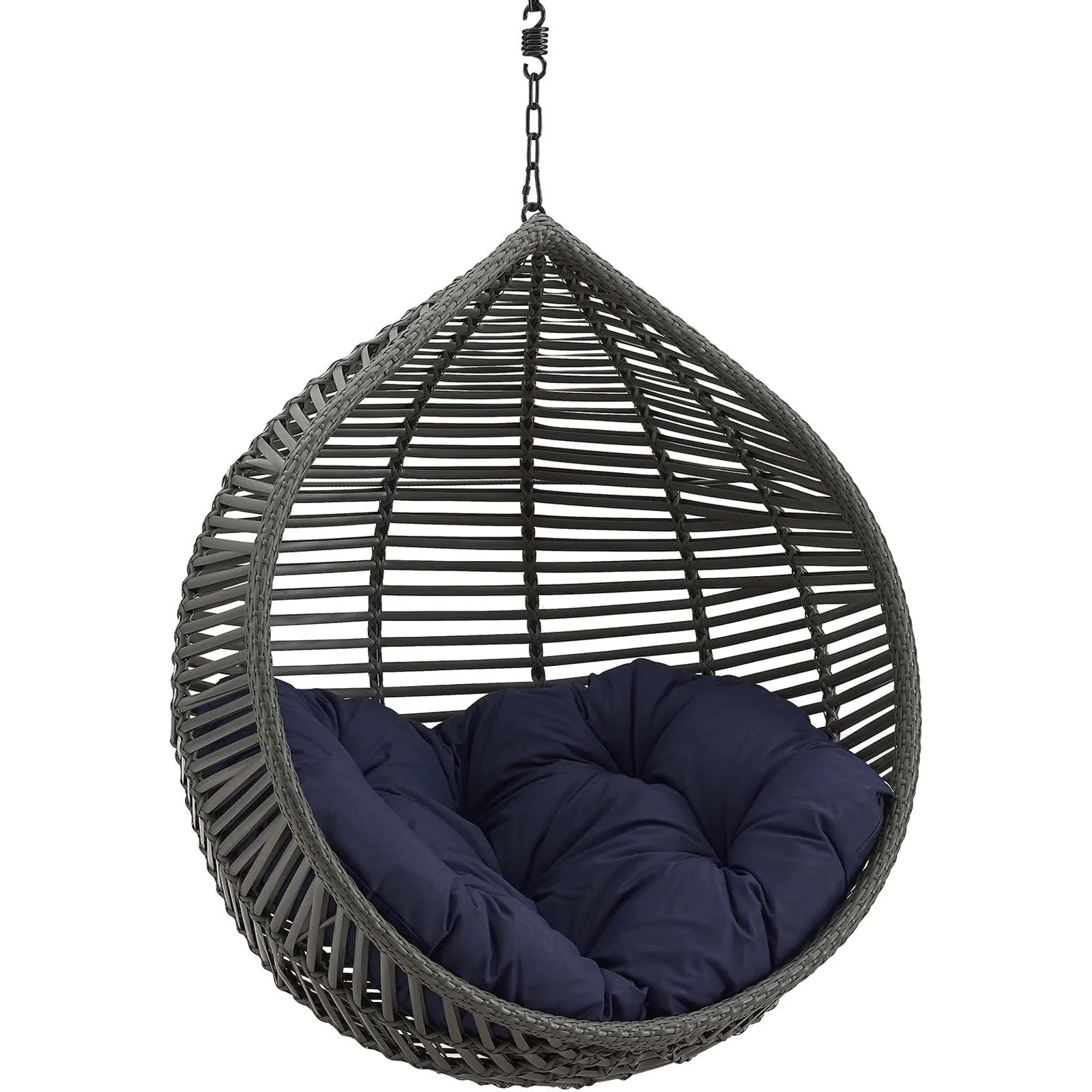 garner teardrop outdoor patio swing chair without stand gray navy