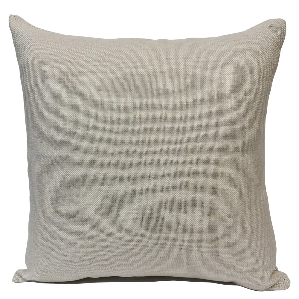 blank sublimation linen look pillow cover 16 x 16 with 14 wide zipper