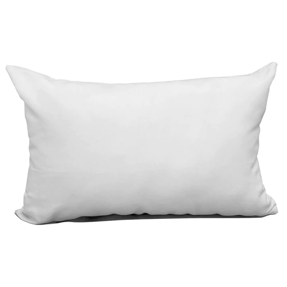 blank sublimation white polyester pillow cover 12 x 18 with zipper