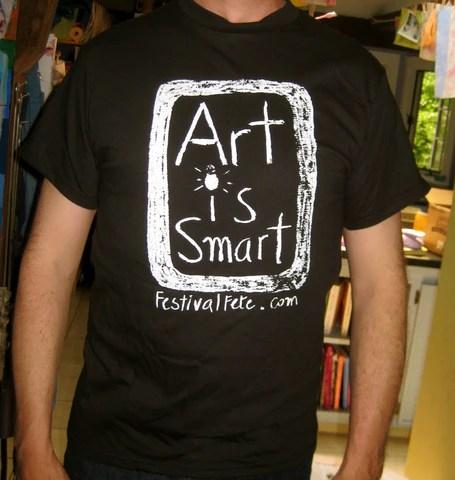 Art Is Smart T-Shirt in Black