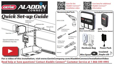 aladdin connect installation instructions