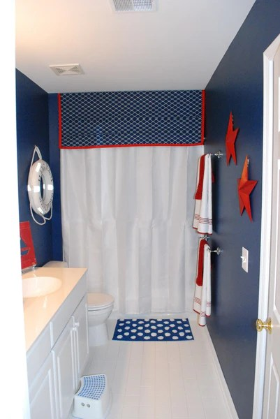 Navy Blue And White Bathroom Accessories