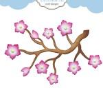 Elizabeth Craft Designs Dies Cherry Blossom Branch Dies R Us