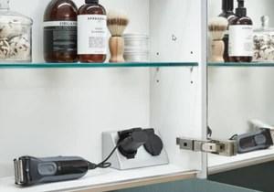 Prise Double L S Pour Armoires De Toilette Prise Double Avec Protectio Top Shelf De