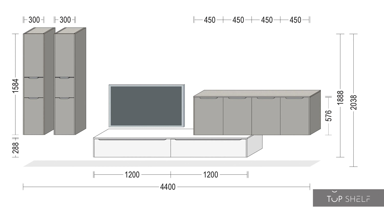 nobilia meuble de rangement mural
