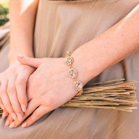 lindsie gold bracelet haute bride happily ever borrowed