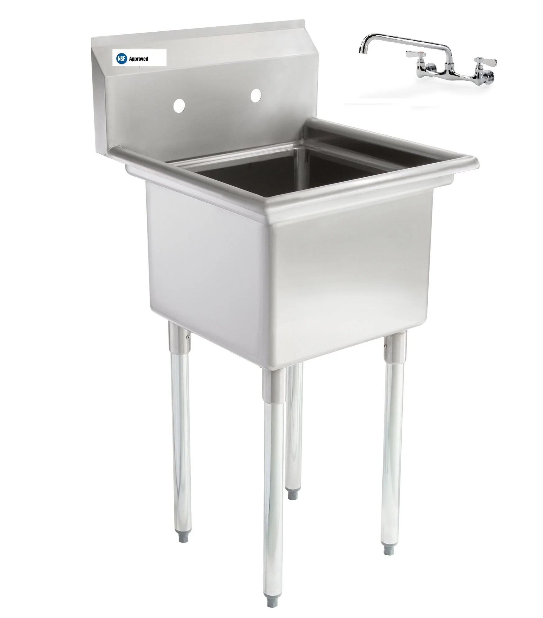 stainless steel one compartment commercial kitchen mop sink