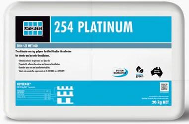 Mix with grout enhancer to improve performance. Laticrete 254 Platinum 20kg C2tes2p2 345 Tile Adhesive Euro Abrasives Sydney Hardware Building Supplies