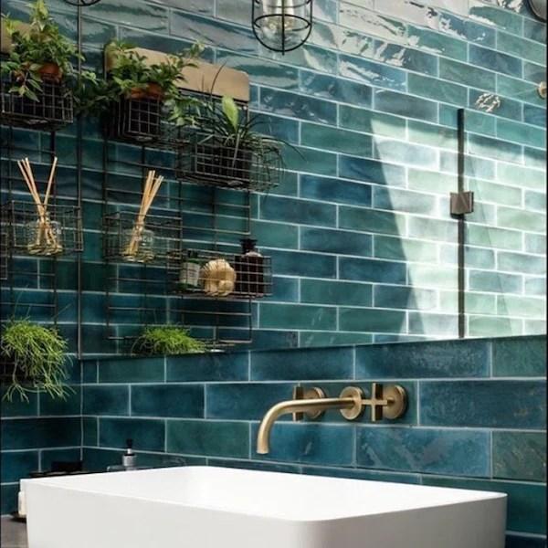 verona ink blue ceramic wall tiles 7 5x30cm