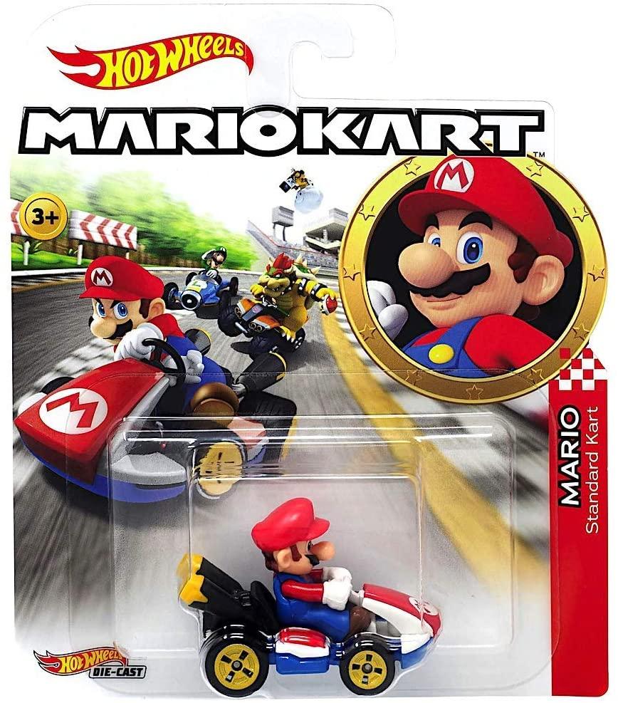 Hot Wheels Die Cast 1 64 Mario Kart Mario Funky Toys