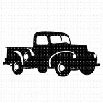 Vintage Farm Pickup Truck Svg Png Dxf Clipart Eps Vector Cut File Crafter Oks