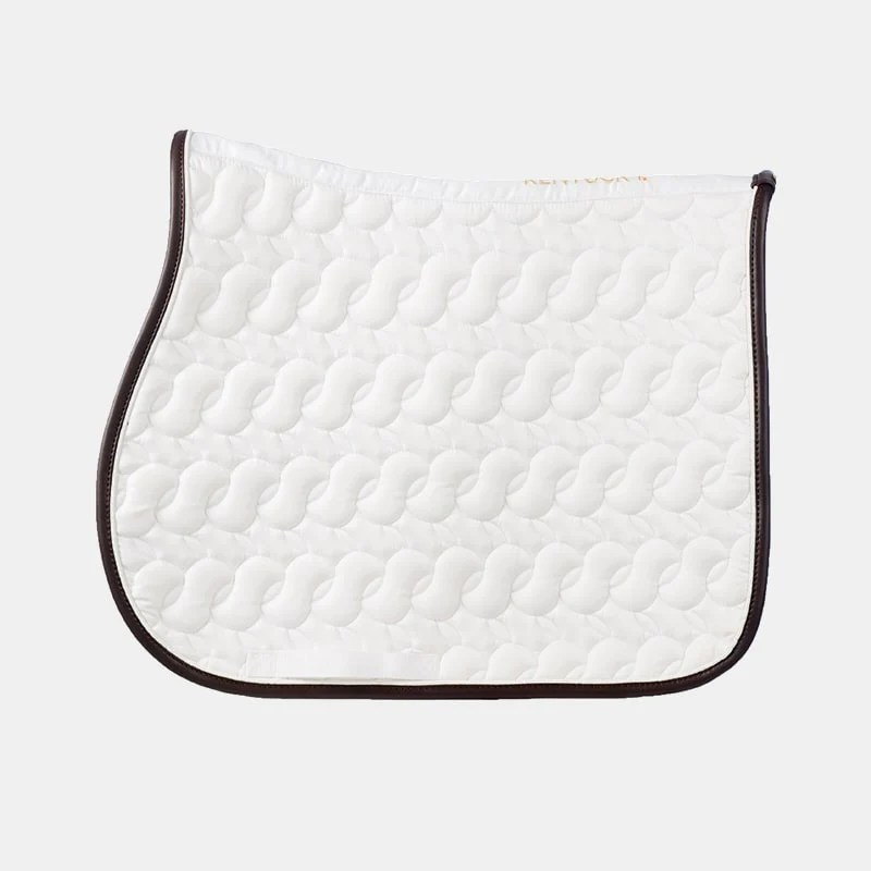 kentucky horsewear tapis de selle blanc sans logo