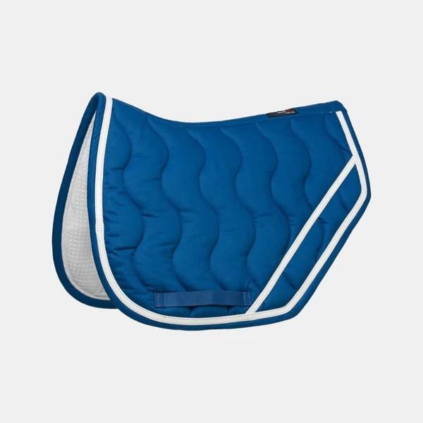 equitheme tapis de selle jump bleu roi blanc bleu roi