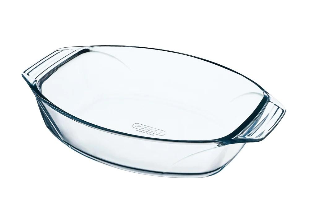 plat a four ovale en verre prise en main facile irresistible boutique pyrex