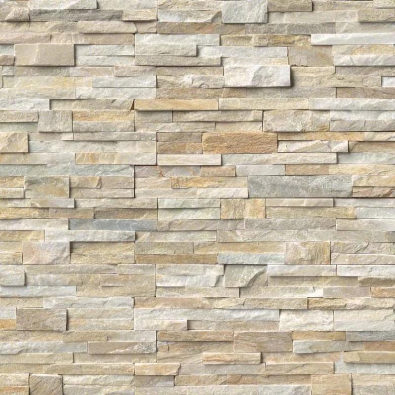 honey gold 6x24 stacked stone ledger panel